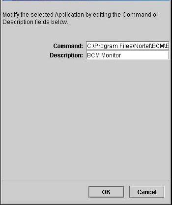 The Add Application dialog box, shown in