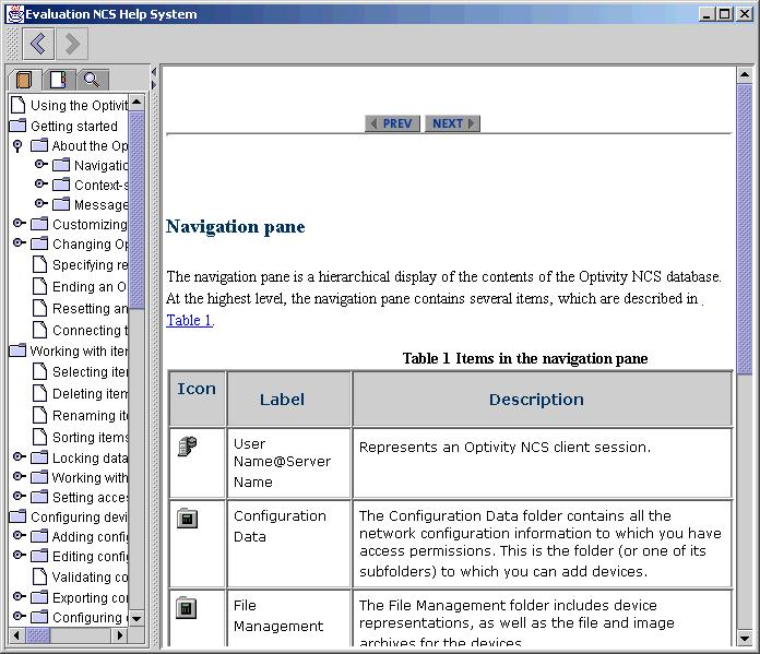 70 Client environment 2 Press F1. The Help topic for the navigation pane appears.