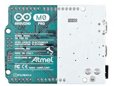 The Arduino M0 pro represents a simple, yet powerful, 32 bit extension of the Arduino UNO platform. The board is powered by Atmel s SAMD21 MCU, featuring a 32 bit ARM Cortex M0 core.