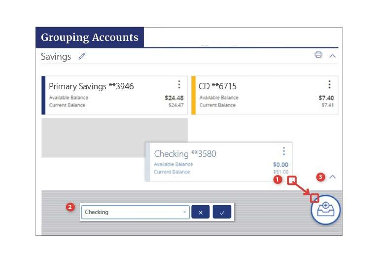 Account Grouping 1. Click and drag the selected account to the tray icon that appears on your screen. 2.