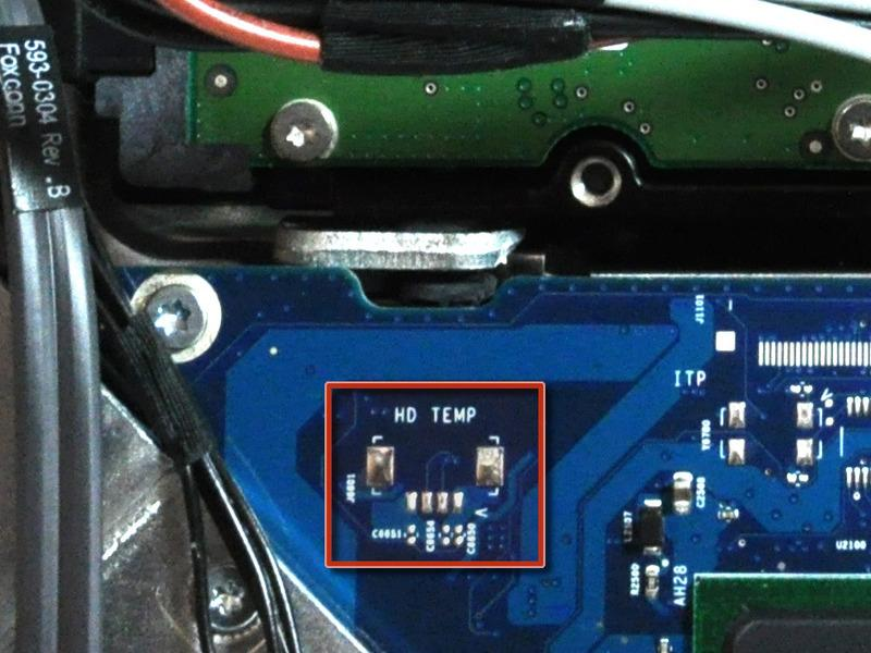 Step 15 A hard drive thermal sensor may be present on some models.
