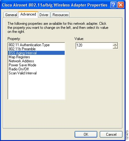 Chapter 5 Setting Roaming Parameters in the Windows Control Panel Setting Roaming Parameters in the Windows Control Panel The Cisco Aironet 802.