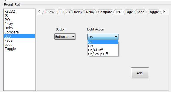 Page setting White buttons can be set to type page that include four actions.