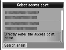 Adding Your Multifunction to Your Network Step Five Select the access point name, then press the OK button.