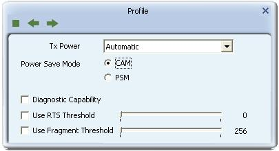 802.1x Setting: This is introduced in the topic of Section 3-2 : 802.1x Setting Figure 2-2-7 Advanced Configuration Power Save Mode: Choose CAM (Constantly Awake Mode) or Power Saving Mode.