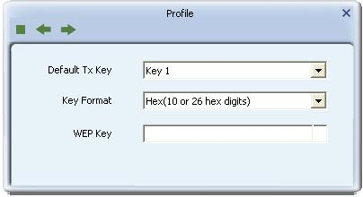 Figure 3-1-3 Pre-shared Key Configuration Pre-shared Key: This is the shared key between the AP and STA.