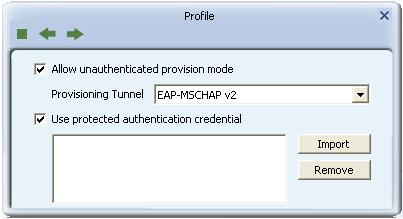 Allow unauthenticated provision mode: During the PAC can be provisioned (distributed one time) to the client automatically.