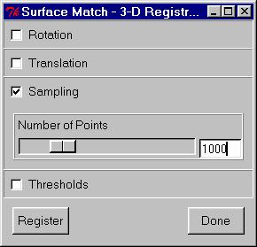 23. Under Generate select the Surface Match option for the surface matching registration algorithm. 24.