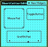 265 Introduction to ShortCutter 266 265 Creating Widgets To create a button or other widget in edit mode, simply put the stylus at the top left of where you want the widget to go, and drag to the