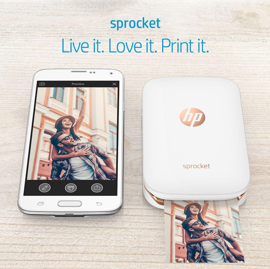 129. 99 HP Sprocket Bluetooth connectivity; ultra-portable;