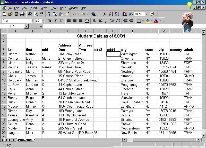Setting up your Excel spreadsheet to maximize its use 1. Your data should be set up in columns and rows and every column should have a heading.