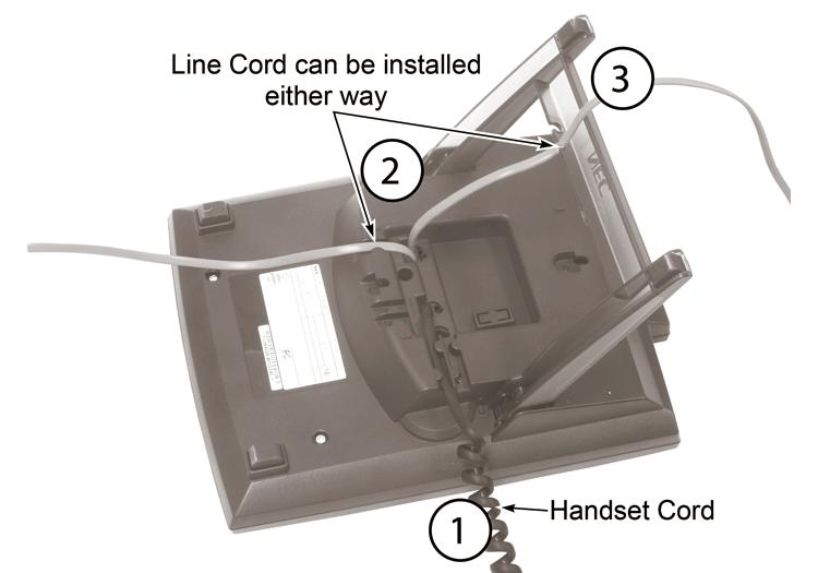 Installing the Handset And Line Cord When installing the handset: 1.