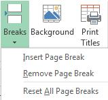 Page Break Preview Page Break Preview shows how the pages will be printed and offers the opportunity to adjust the page breaks by clicking and dragging. On the Ribbon, click on the View tab.