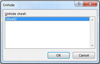 Unhiding a Sheet(s) In the Cells group, click on Format and choose Hide & Unhide Unhide Sheets. Select the sheet to unhide.