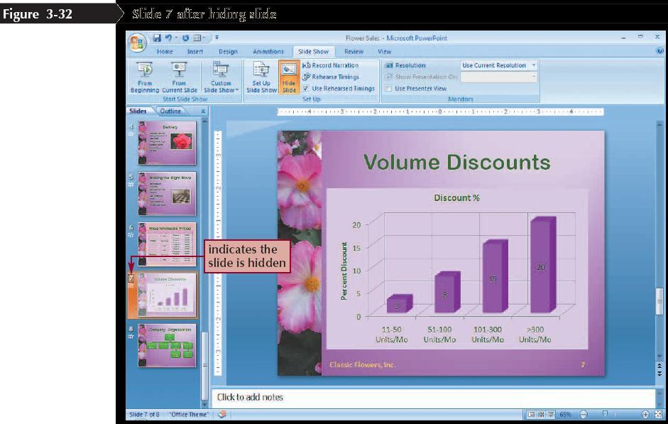 Hiding Slides Go to the slide you want to hide Click the Slide Show tab on the Ribbon In the