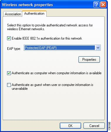 Appendix E Configuring the Client Adapter Enabling PEAP Authentication Follow the steps below to prepare the client adapter to use PEAP authentication, provided you have completed the initial