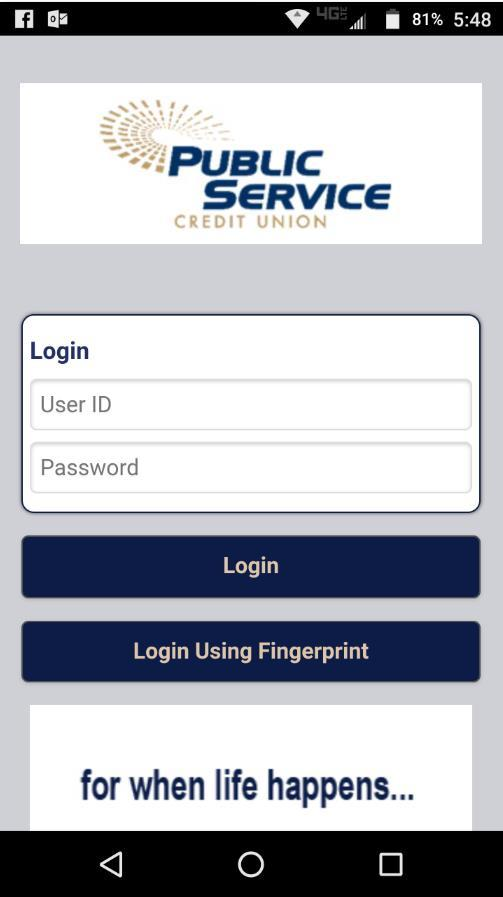 Home Page, Setup and Logging In Mobile Banking Setup 1.Log into online banking on your desktop computer. 2.Click on the Mobile Banking Icon in the upper right hand area of the page. 3.