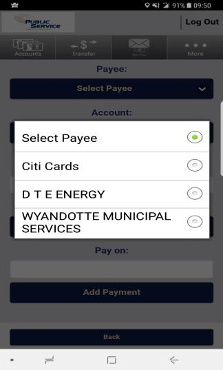 cases, make revisions. 2. Click Select Payee to add the bill you will be paying.