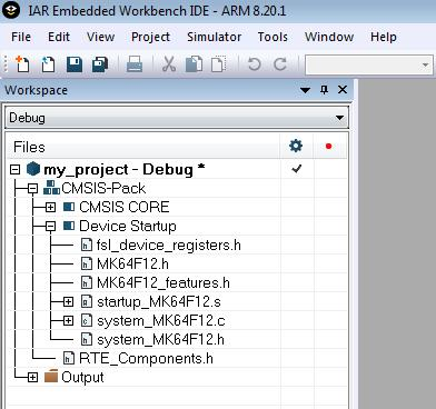 Convert project created with Keil CMSIS packs to NXP MCUXpresso SDK CMSIS packs Figure 43.