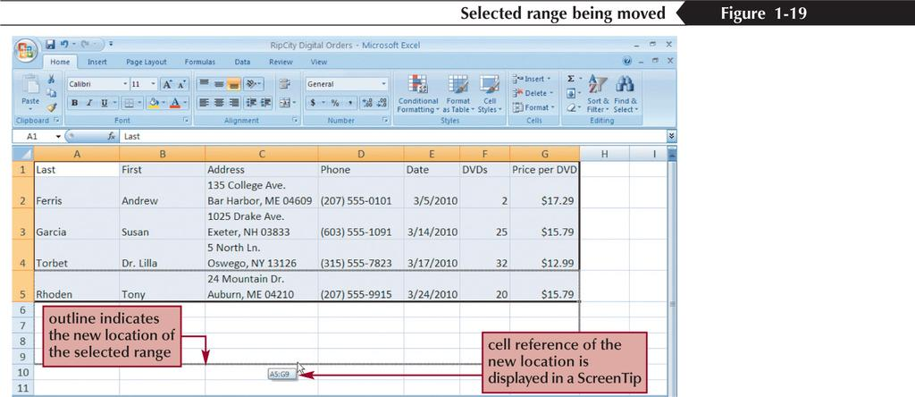 Moving or Copying a Cell or Range New