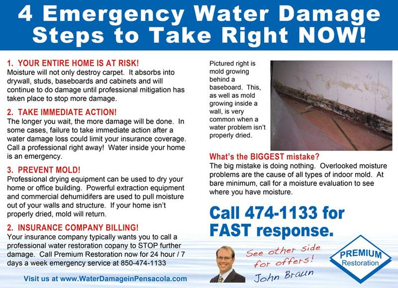 And Water Damage Restoration EDDM Postcards.