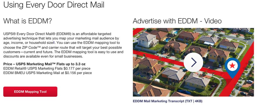 What is Every Door Direct Mail (aka EDDM)? First, I usually shy away from complicated marketing plans. And I especially avoid recommending complicated stuff to my clients. But EDDM is easy.