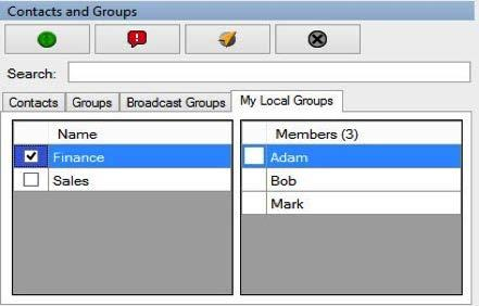 2. Select the checkbox to display all the members of the group. A My Local Group window appears as shown below: 5. Click the Remove button to remove the fleet members.