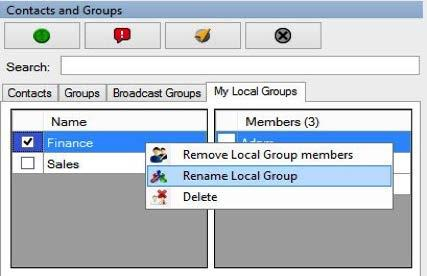 Adding members to an existing local group To add members to an existing local group, follow these steps: 1.