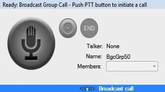 When the call starts, the same information as for a Group call is shown in the Call Activity window as for a group call. However, the group name displays as None.