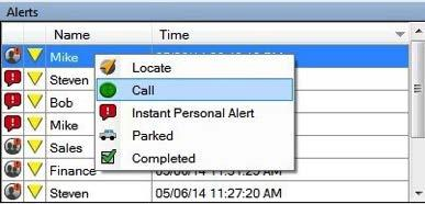 12 One-to-one call active window Placing a call from the Alerts window To place call from the Alerts window after receiving an IPA: 1.