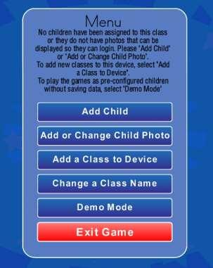 Press the Add Child r Pht buttn and the fllwing screen will appear: This cnfirms that yu are the teacher f the class registered n the device.