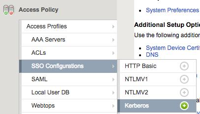 Setting up Kerberos Constrained Delegation (KCD) in BIG-IP APM If you are integrating a KCD app, you should now set up KCD in APM. 1. Open the F5 BIG-IP admin console. 2.