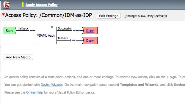 6. In the Visual Policy Editor, select Plus