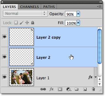 Select both photo mount layers.