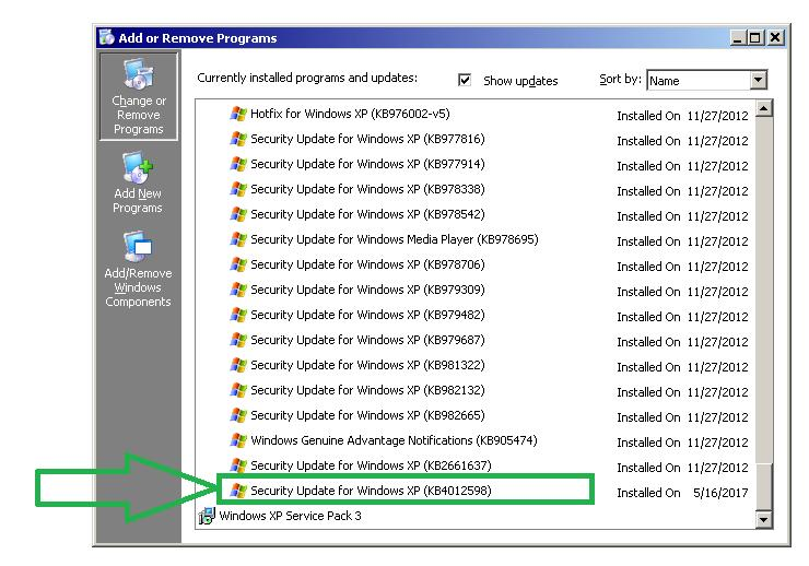 4.2 Windows XP Our instruments exist with two variations of windows XP. You will have to try both patches in order to ensure that the fix is applied correctly.
