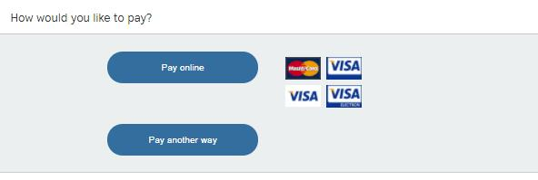 Step 25: Select your method of payment.