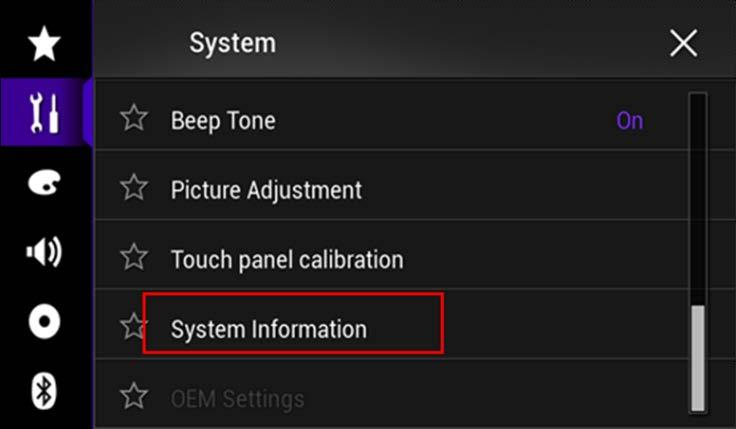 System Firmware Update 1 06 Instructions for Pioneer AVH
