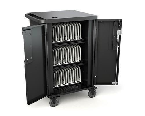 WIRELESS MOBILE LAPTOP CARTS Bretford CoreX Charge/Store Cart 24 Unit Configuration (Holds up to 24 devices) PN: TCOREX24 Cart Only Price $1,024.