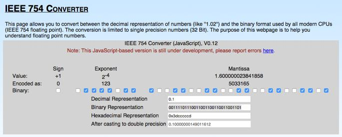http://www.h-schmidt.net/floatconverter/ieee754.html Exercises Does this converter support NaN, and? Are there several different representations of +?