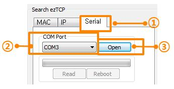 8.1.2 Changing F/W over the Serial In case of wireless LAN type products, F/W download is implemented with their serial (RS232) port.