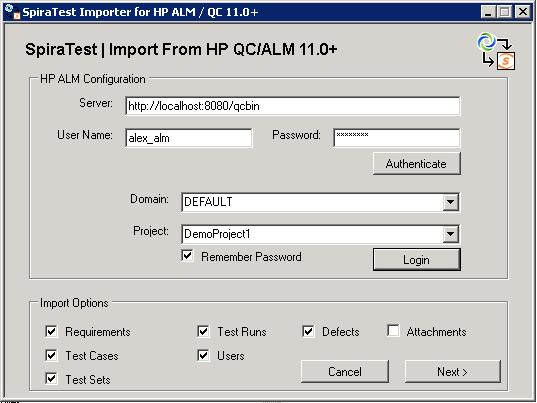2 Using the HP QualityCenter Migratin Tl Nw that yu have installed the migratin tl, yu can launch it at any time by ging t Start > Prgrams > Inflectra > SpiraTest > Tls > HP ALM Imprter.