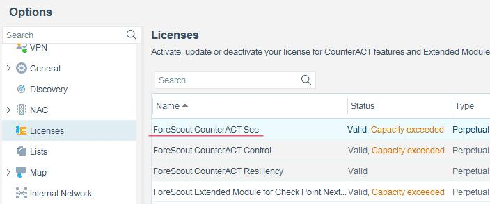 Contact your ForeScout representative if you have any
