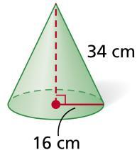Example 2: Find the volume of each cone.