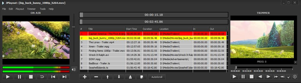 JPlayout SD/HD SDI & IP Playout Solution OVERVIEW JPlayout is a powerful SD, HD, 2K and 3D playout solution.