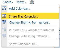 Click n the calendar yu wish t share. 4. Click n the T buttn t select users t share yur calendar with. 5.