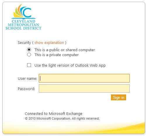 What is Outlk Web App 2010? The Outlk Web App allws yu t access yur e-mail and calendar frm any cmputer that has Internet access via a Web brwser. T access OWA: 1. G t https://wa.clevelandmetrschls.
