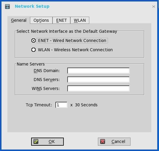 Configuring the General settings To configure the general network settings: 1 From the desktop menu, click System Setup, and then click Network Setup. The Network Setup dialog box is displayed.