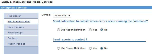 For each contact, you can specify the information that is shown in Figure 16. Figure 16 New contact details The email address that you enter is used for SMTP notifications.
