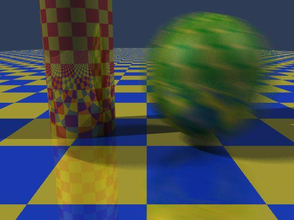 Motion Blur Apply stochastic sampling to time as well as space Assign a time as well as an image position to