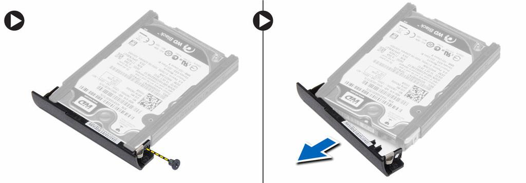 5. Flex the hard-drive isolation. Peel off the hard-drive isolation from the hard drive. Installing the Hard Drive 1. Install the hard-drive isolation on the hard drive. 2.